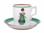 Чайная чашка с блюдцем «Modes de Paris 1835» на форме «Гербовая»