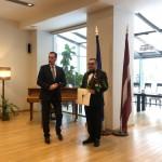Орден вручает посол Латвии в Москве